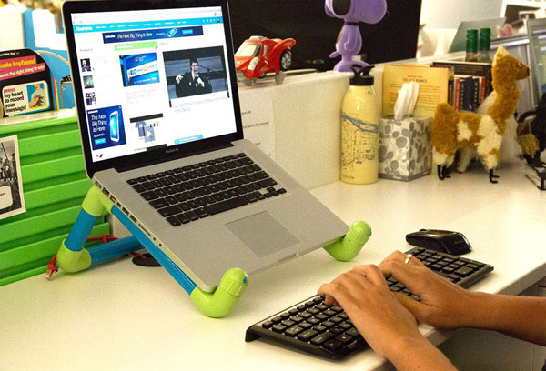 DIY PVC Boru Dizüstü Bilgisayar Standı