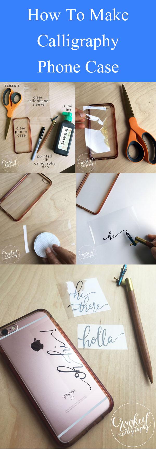 DIY Kaligrafi Telefon Kılıfı