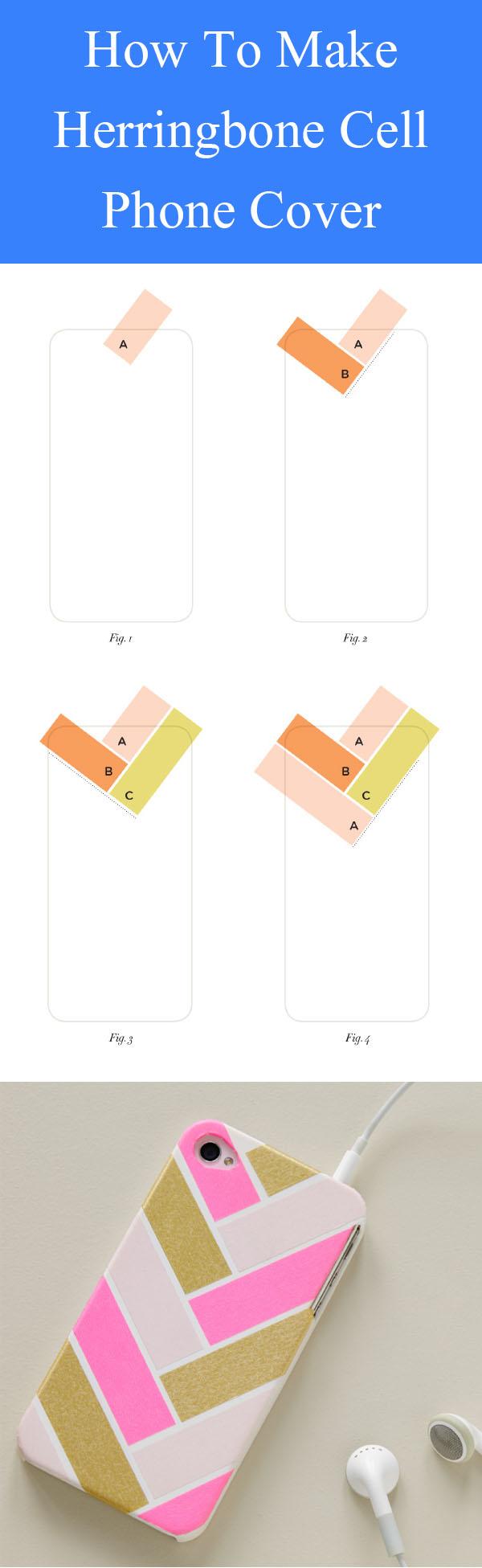 DIY Balıksırtı Cep Telefonu Kapağı