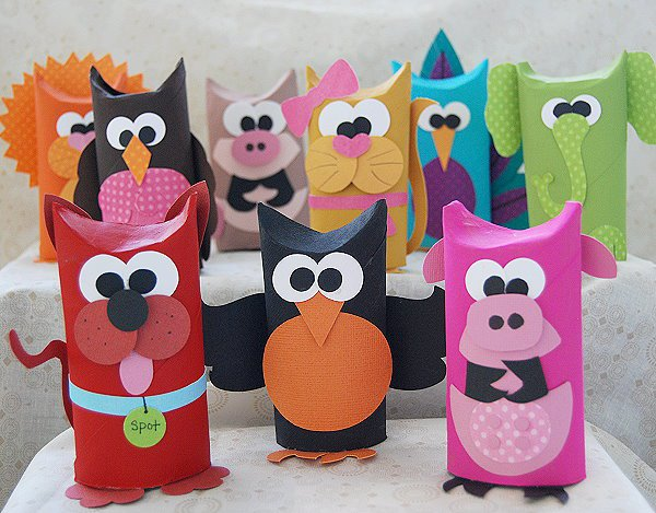 DIY Kağıt Tüp Hayvanlar