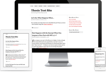 responsiveness in thesis wordpress theme