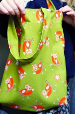 The Makeup Dummy DIY foxe tote bag open