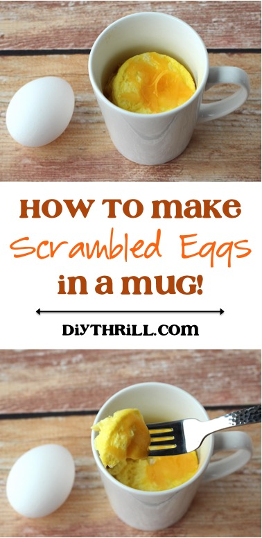 How to Make Scrambled Eggs in a Mug from DIYThrill.com