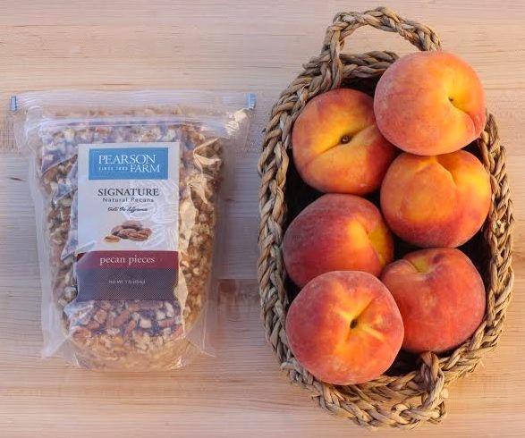 Peach Pecan Dump Cake Ingredients