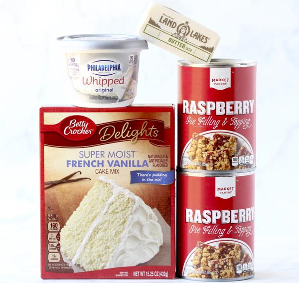 Raspberry Cheesecake Dump Cake