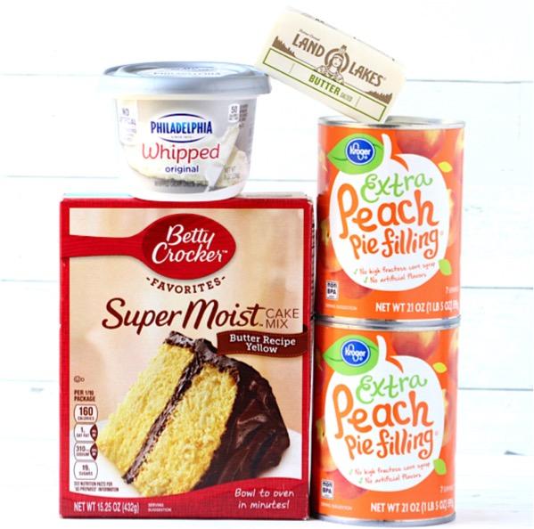 Crockpot Peaches and Cream Dump Cake