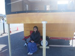 Tiny Camper was displayed at the Tiny House Expo in St Croix