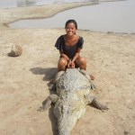 Sitting on a Crocodile in Ouagadougou