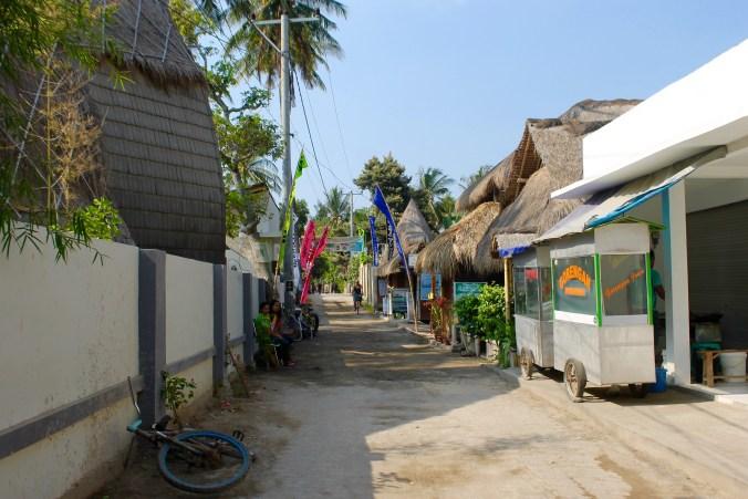 Local Street Gili Air Lombok