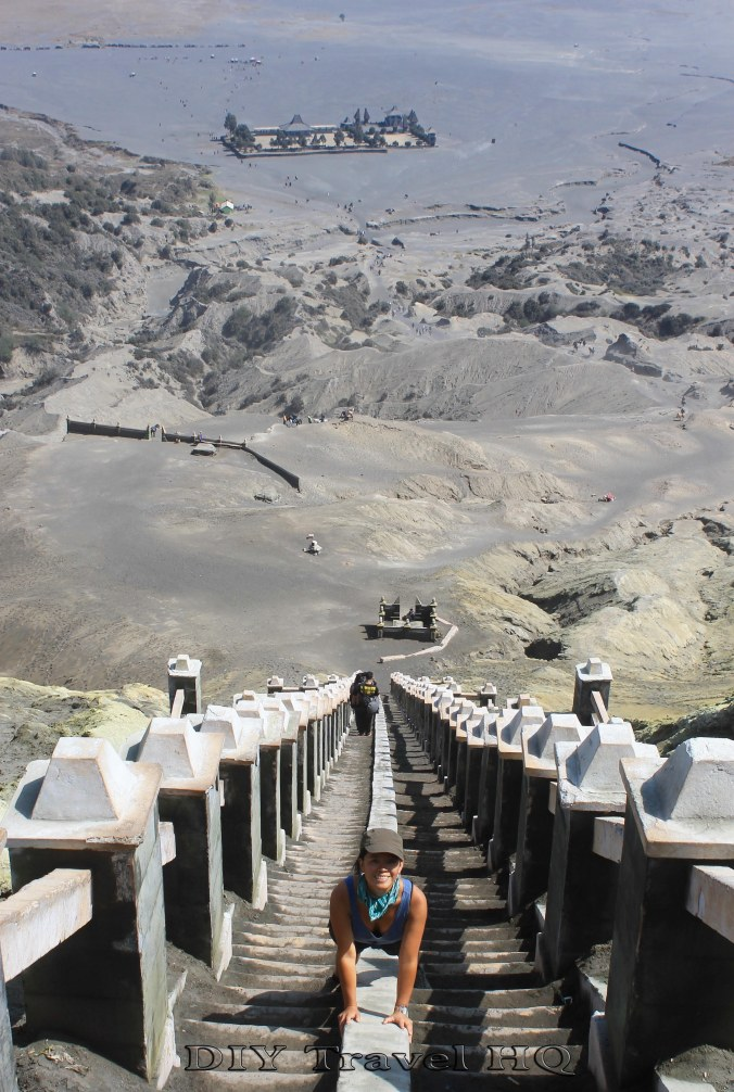 The steep & dusty stairs to Mount Bromo crater