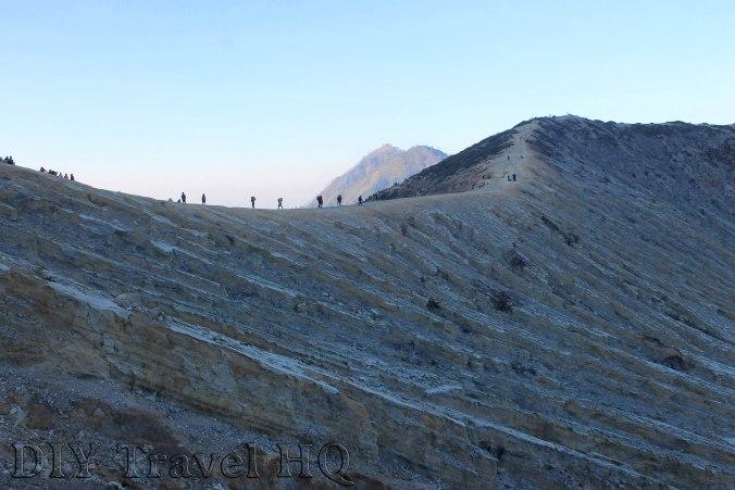 Climbers on top of Mt Ijen