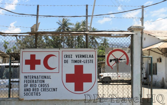 Sign at gate of Red Cross Dili