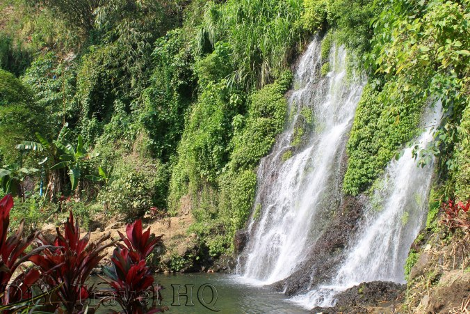 Cool down in waterfall after Mt Ijen