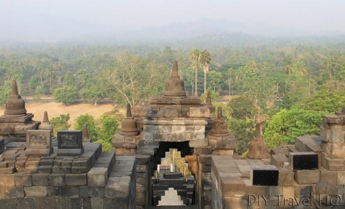 Landscape view of Borobudur