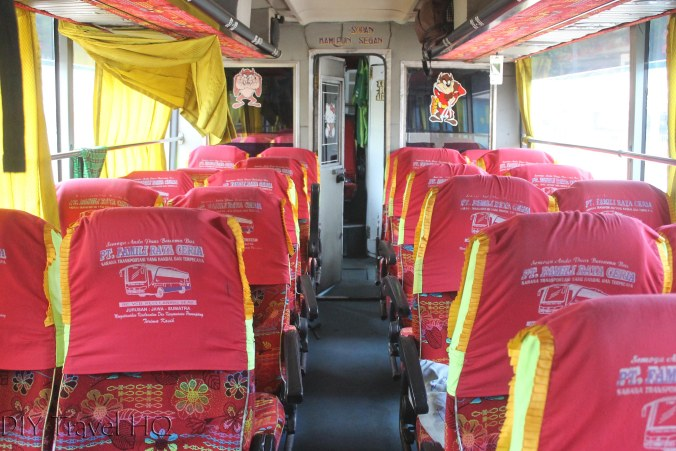 Inside an Indonesian bus
