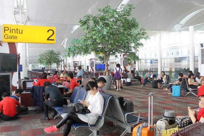 Departure gate at Medan International Airport