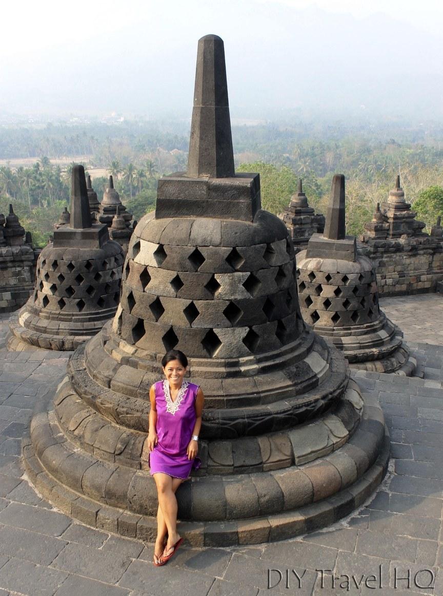 Me at Borobudur