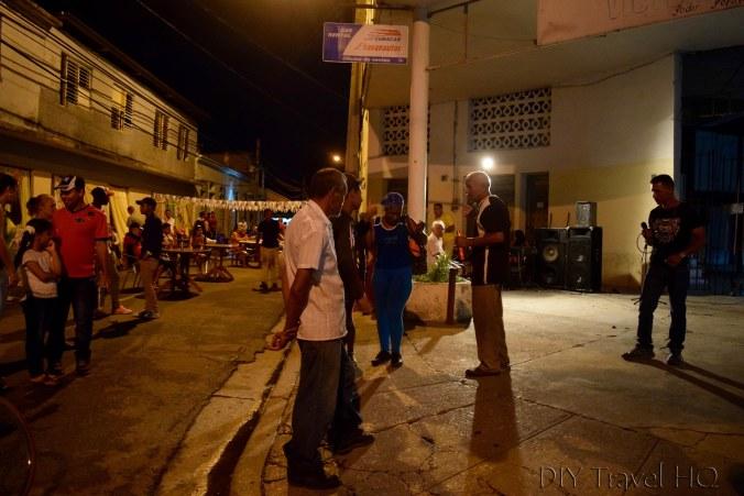 Saturday night street party Las Tunas Cuba