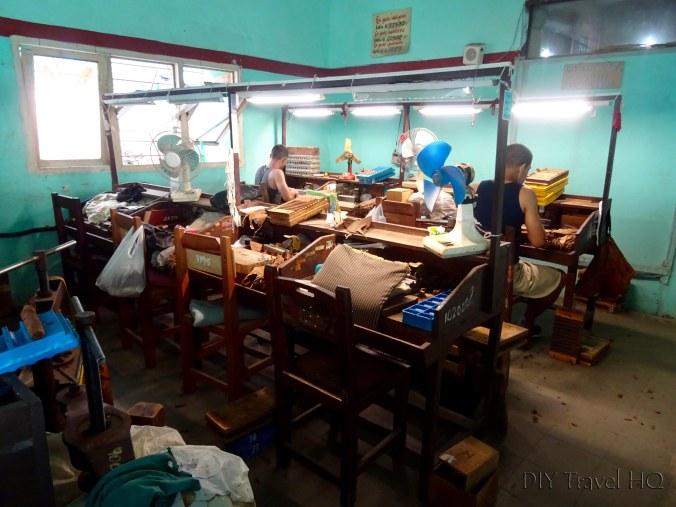 Inside Cohiba cigar factory