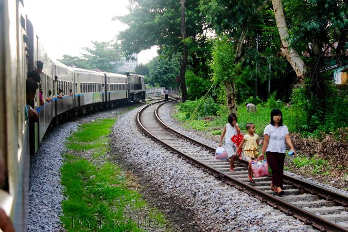 Train tracks in Yangon