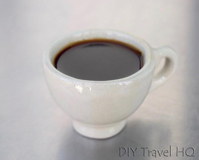 1 peso shot of Cuban coffee