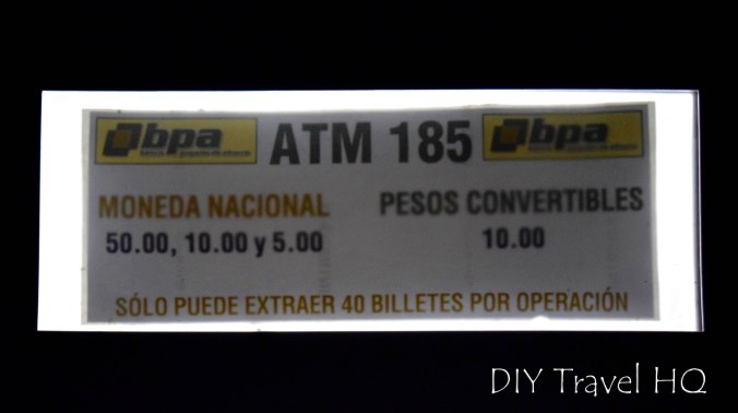 Cuba's Dual Currency ATM Withdraw Limit