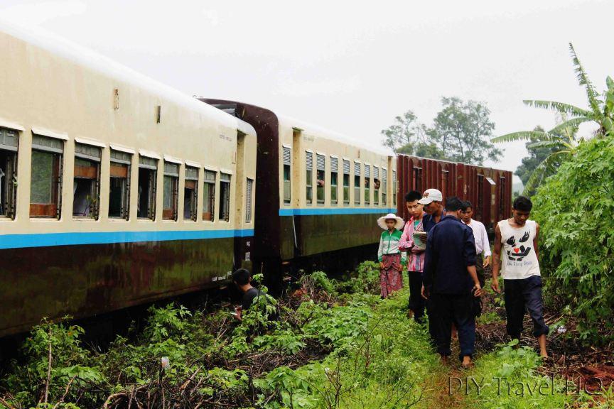 Train Derails in Myanmar