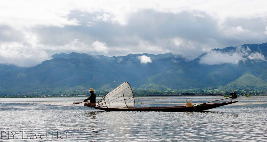 Inle Lake Traditional Fisherman