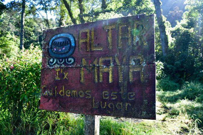 Laguna Chicabal Mayan Altars at Cardinal Points