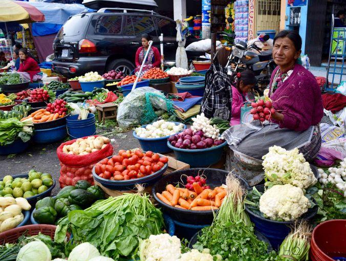 Quetzaltenango (Xela) Mercado La Democracia Street Vegetable Market