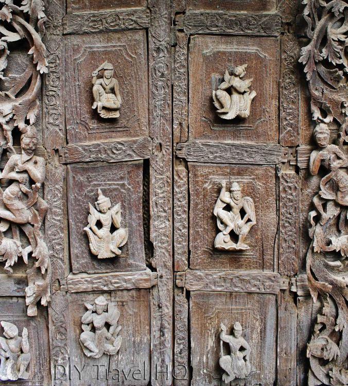 Shwenandaw Kyaung wood carvings