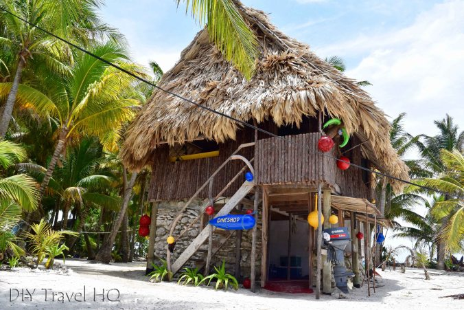 Dive shop on Glovers Atoll