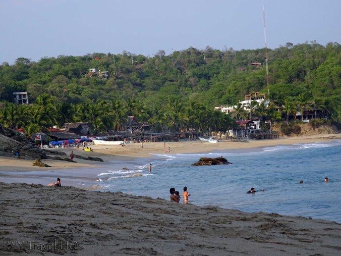 Mezunte Beach next to Punta Cometa