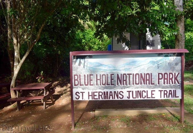 Entrance to St Herman's Blue Hole National Park