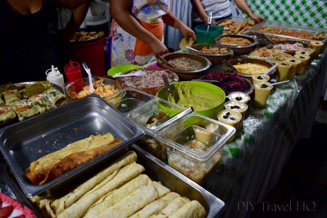 Flores Night Food Market on El Malecon