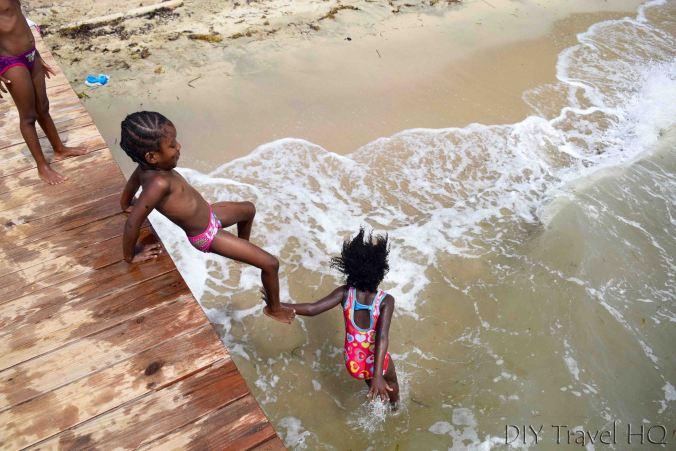 Garifuna kids at Hopkins beach