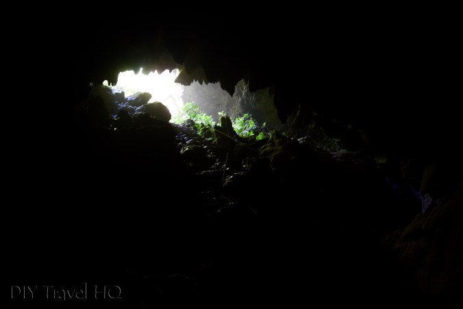 Darkness inside St Herman's Cave