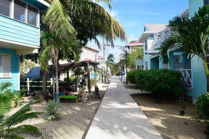 """""""Sidewalk"""" in Placencia"""