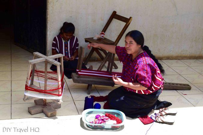 San Juan Atitan Weaving Traditional Clothing