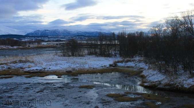 Tromso landscape in winter