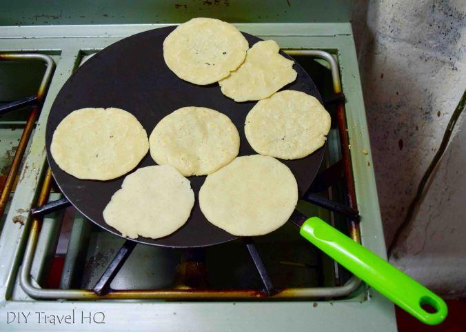 Handmade tortillas on