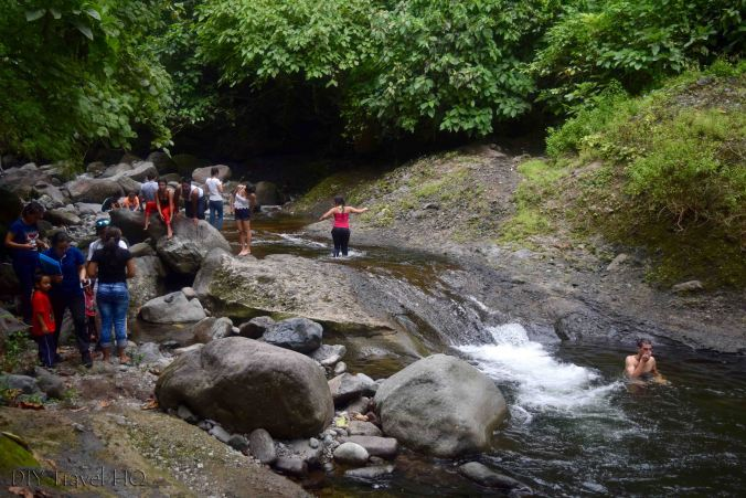 El Imposible National Park Los Enganches Swimming Hole with Student Field Trip