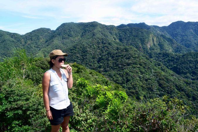 El Imposible National Park Snacks at Cerro Leon Summit
