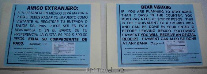 Mexico Exit Fee 390 Pesos