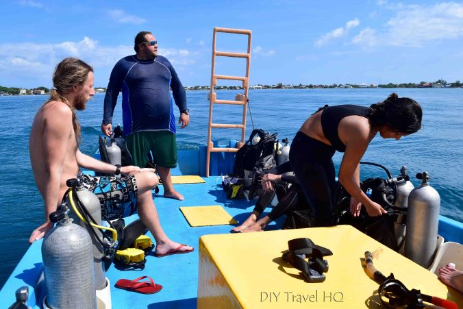 Dive boat crew Gunter's Ecomarine