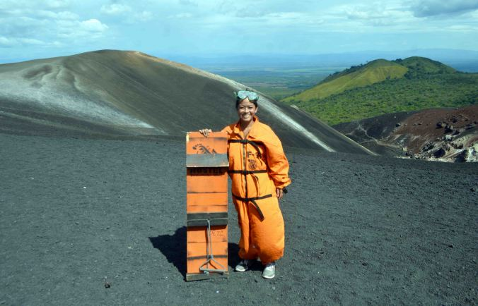 Suited Up for Volcano Boarding on Cerro Negro with Bigfoot Hostel