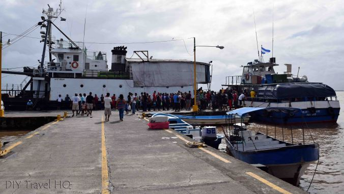 Bluefields to Big Corn Island Ferry & Captain D Cargo Boat
