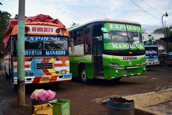 Managua to El Rama Buses
