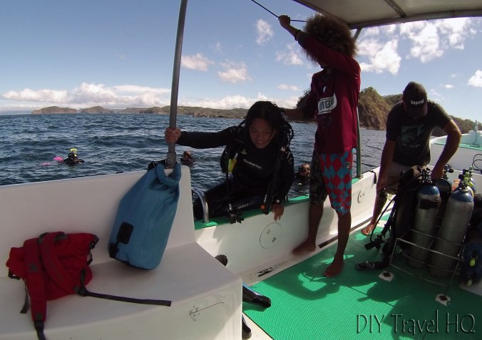 Sheena Coming Up After 1st Dive with Sirenas Diving