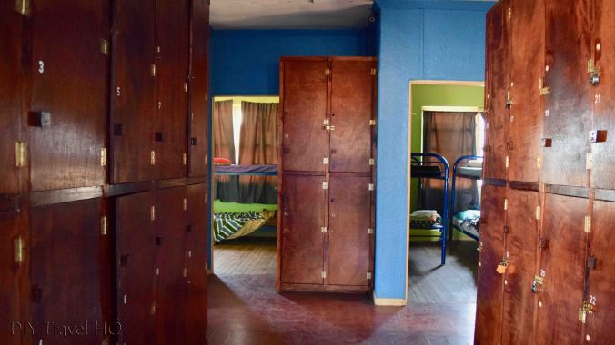 Lockers at Relax Hostel